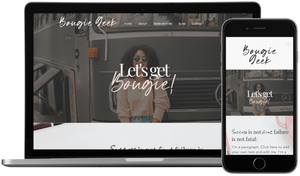 Bougie Geek DIY Website Template