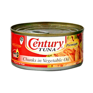 CENTURY TUNA CHUNKS IN VEGETABLE OIL 184G - JayMaya
