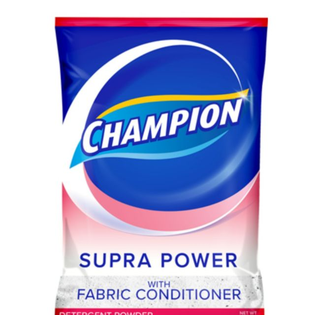 CHAMPION DETERGENT POWDER SUPRA WITH FABRIC CONDITIONER 120G (QTY:6)