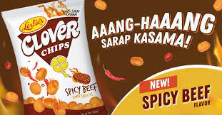 CLOVER CHIPS SPICY BEEF