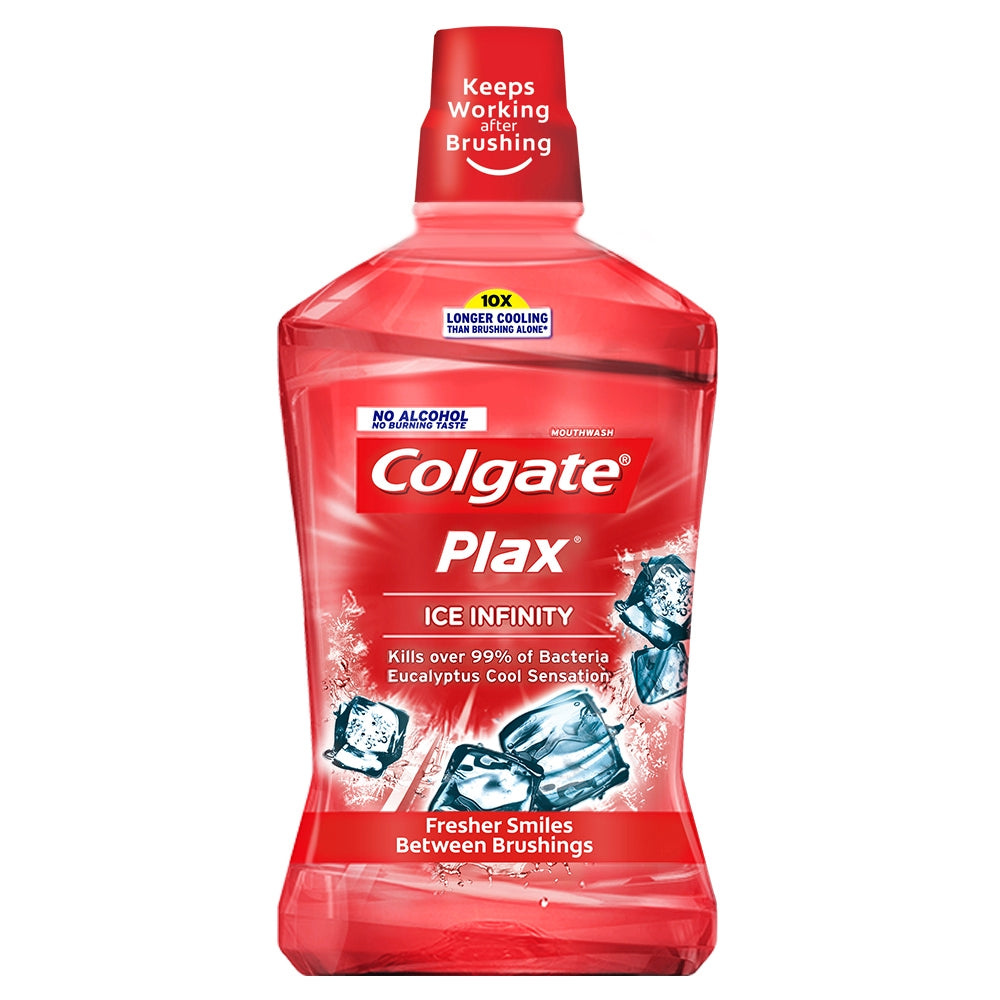 COLGATE MOUTH WASH PLAX ICE INFINITY RED