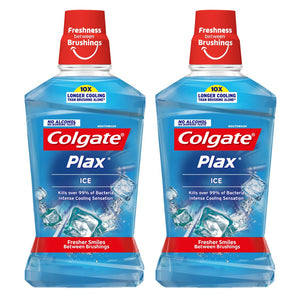 COLGATE MOUTH WASH PLAX ICE LIGHT BLUE SILVER