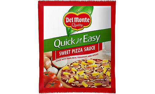 DEL MONTE QUICK AND EASY PIZZA SAUCE SWEET STYLE 115G
