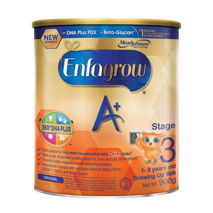 ENFAGROW A+ THREE GROWING UP MILK FOR KIDS 1 TO 3 YEARS OLD PLAIN