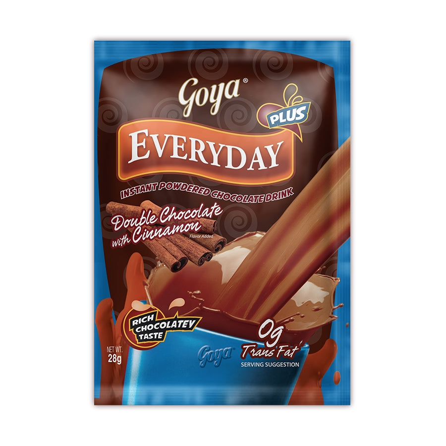 GOYA INSTANT POWDERED DOUBLE CHOCOLATE WITH CINNAMON DRINK 28G