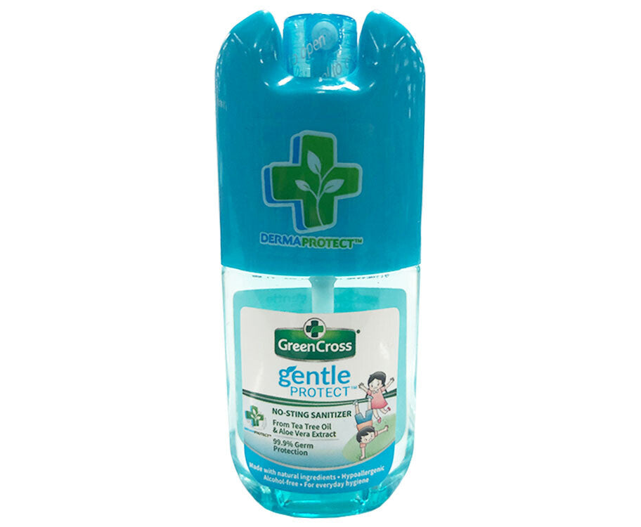 GREEN CROSS GENTLE PROTECT NO STING SANITIZER TEA TREE OIL & ALOE VERA EXTRACT 40ML