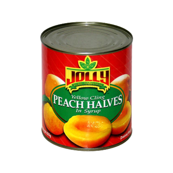 JOLLY PEACH HALVES IN SYRUP 825G