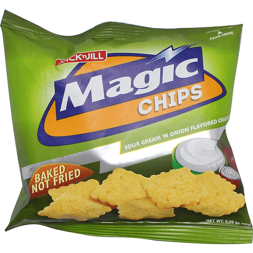 MAGIC CHIPS BAKED NOT FRIED SOUR CREAM 'N ONION FLAVOR 100G