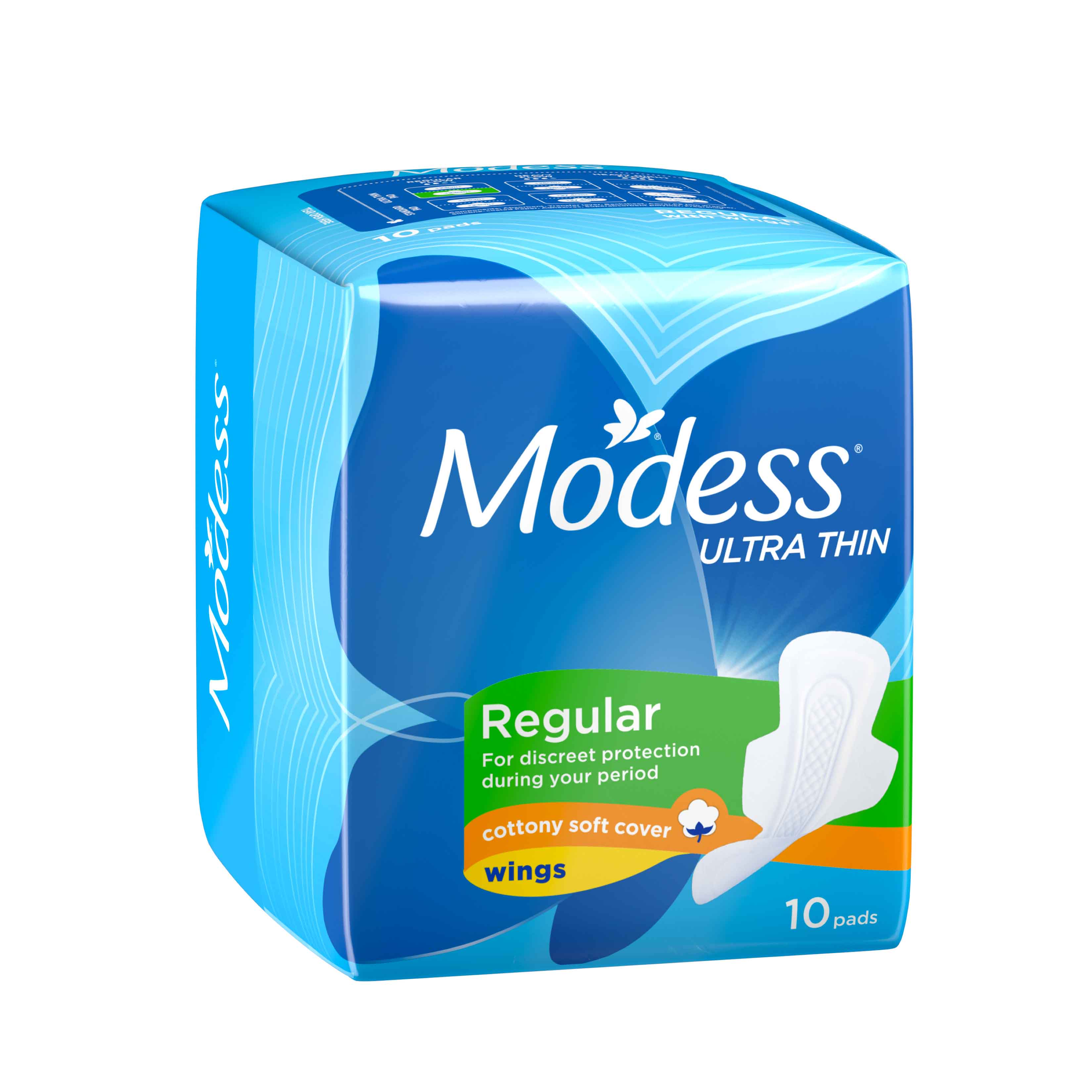 MODESS COTTONY SOFT ULTRA THIN REGULAR WITH WINGS (QTY:10)