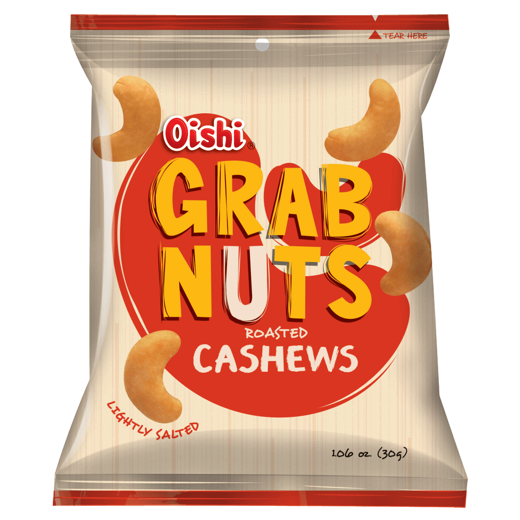 OISHI GRAB NUTS ROASTED CASHEWS LIGHTLY SALTED 30G