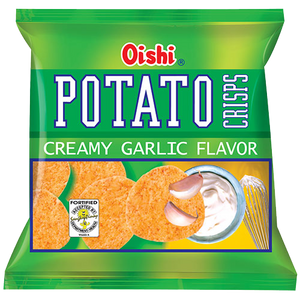 OISHI POTATO CRISP CREAMY GARLIC