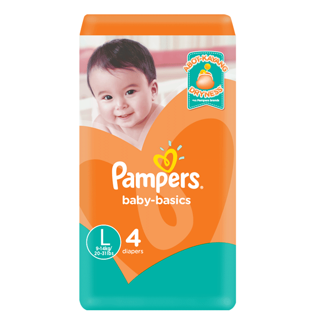 PAMPERS DIAPER BABY BASICS LARGE
