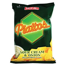 PIATTOS POTATO CRISP SOUR CREAM FLAVOR
