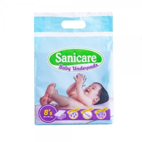 SANICARE BABY DISPOSABLE UNDERPADS 8 PIECES