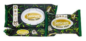 SANICARE BAMBOO NATURAL WIPES