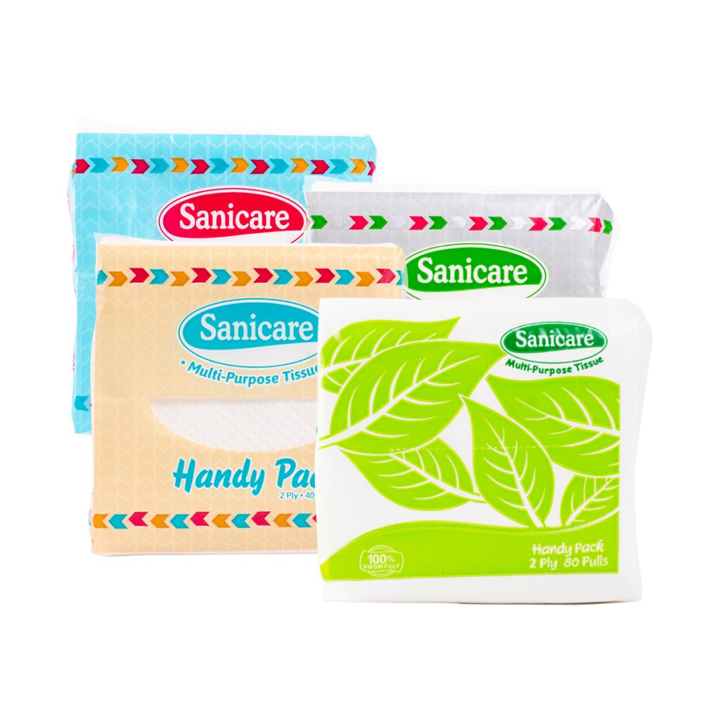 SANICARE BATHROOM TISSUE HANDY PACK 2PLY 80 SHEETS 40 PULLS