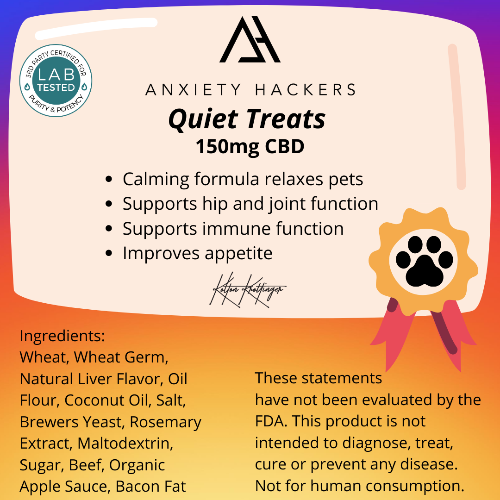 Quiet Treats 5mg CBD Dog Biscuits
