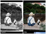 Photo Restoration and Repairs - Marked Images