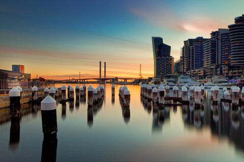 Docklands Sunset - Marked Images