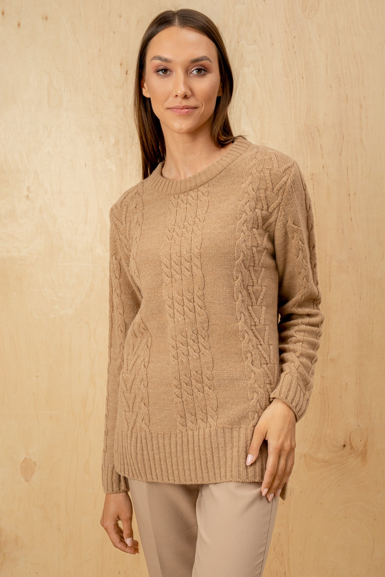 Women's Italian 100% Wool Crew Neck Wollen Sweater