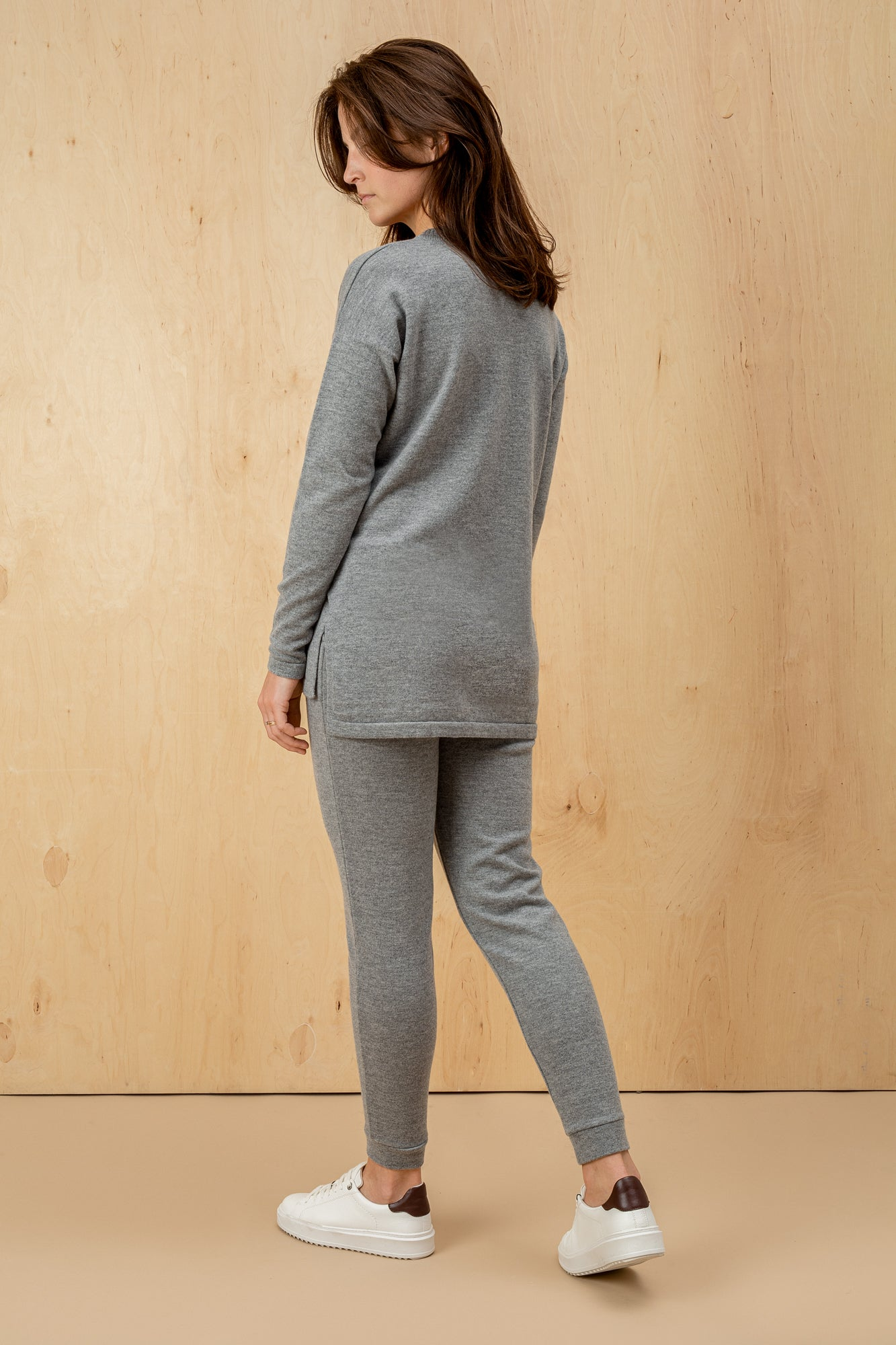 Women's Italian 100% Wool Straight Trousers