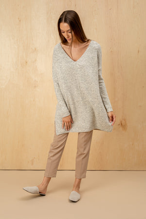 Women's Italian Wool Chunky V Neckline Sweater