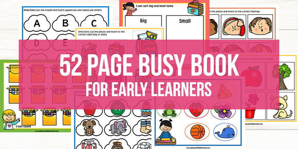 BUSY BOOK FOR PRE K