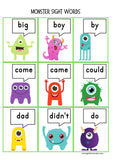 Monster Sight Words Activity
