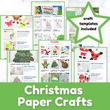 Christmas Paper Craft Printables - BUNDLE of Christmas Crafts for Kids with Templates