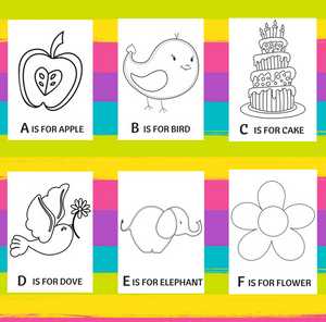 ABC Coloring Pages Set