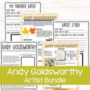 Andy Goldsworthy Artist Bundle