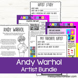 Famous artists for kids - Andy Warhol