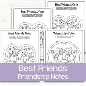Cat and Dog Friendship Notes