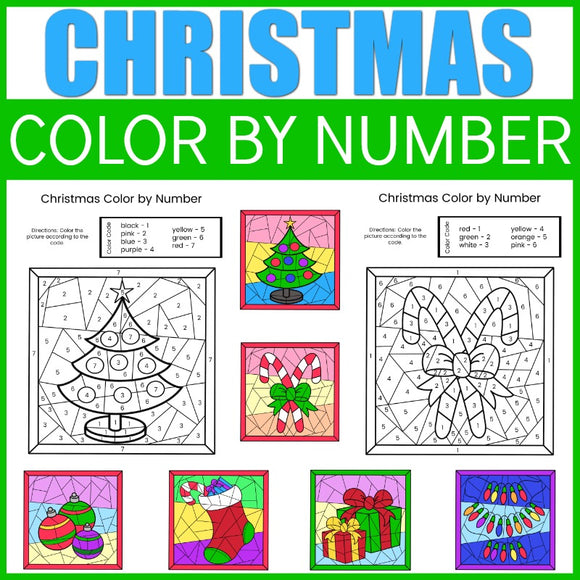 Christmas Color by Number Sheets
