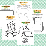 Fine Motor Activities for Little Campers Activity Pack
