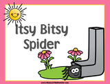 Itsy Bitsy - Nursery Rhyme Sequencing Activity