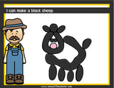 baa baa black sheep nursery rhyme playdough mats