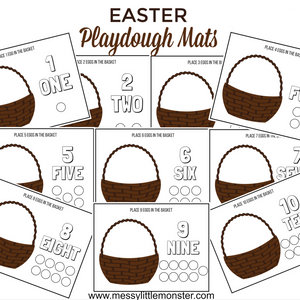Easter counting playdough mats