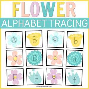 Flower Alphabet Tracing Cards