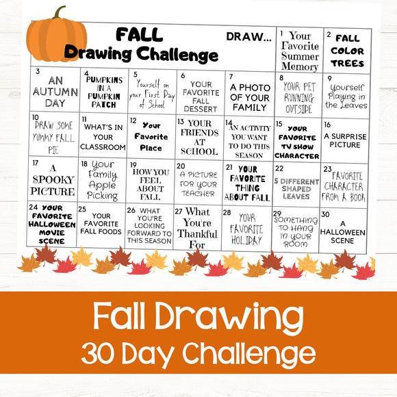 Fall Drawing Challenge