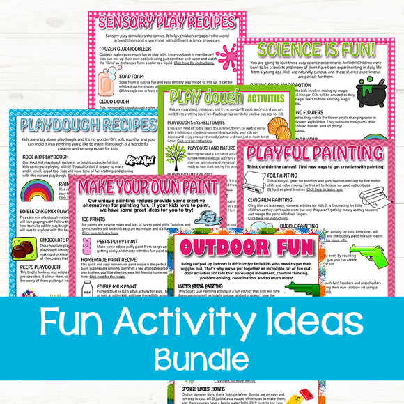 Fun Activity Idea Lists