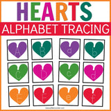 Hearts Alphabet Tracing Cards