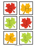 Leaves Alphabet Tracing Cards