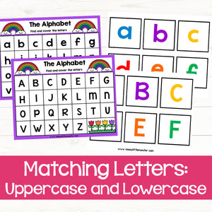 Matching Letters: Uppercase and Lowercase