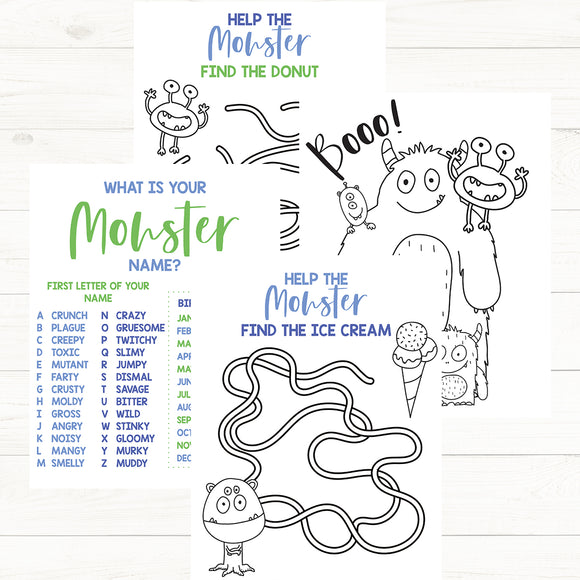 Monster Activity Pack
