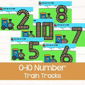 Number Train Tracks