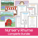 printable nursery rhyme posters and playdough mats