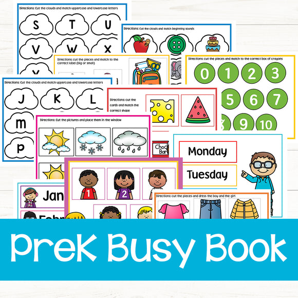 52 Page PreK Busy Book