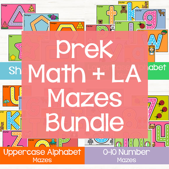 PreK Mazes Bundle