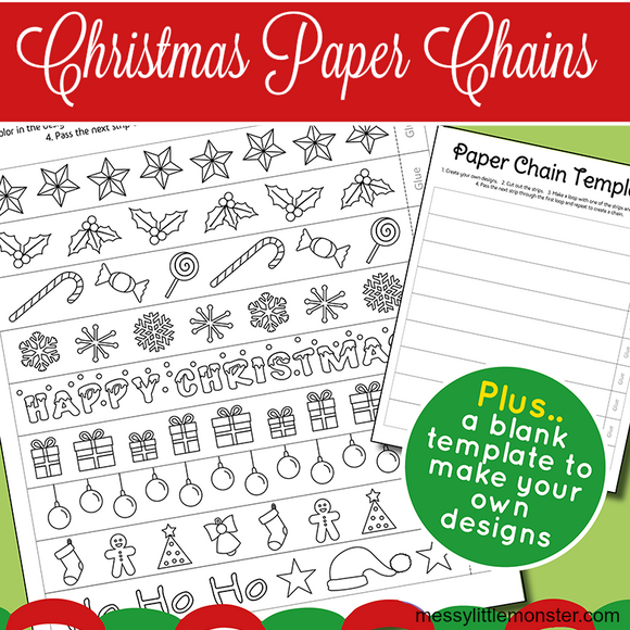 Christmas Paper Chains Template